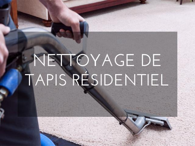 nettoyage de tapis residentiel
